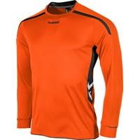 Hummel Preston Voetbalshirt Lange Mouw Kinderen - Oranje / Zwart