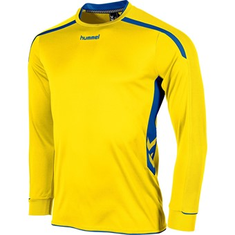 Picture of Hummel Preston Voetbalshirt Lange Mouw Kinderen - Geel / Royal