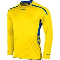 Hummel Preston Voetbalshirt Lange Mouw Kinderen - Geel / Royal