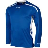 Hummel Preston Voetbalshirt Lange Mouw Kinderen - Royal / Wit
