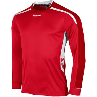 Picture of Hummel Preston Voetbalshirt Lange Mouw - Rood / Wit