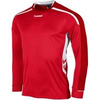 Hummel Preston Voetbalshirt Lange Mouw - Rood / Wit