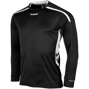 Picture of Hummel Preston Voetbalshirt Lange Mouw - Zwart / Wit