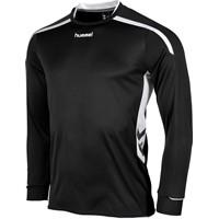 Hummel Preston Voetbalshirt Lange Mouw - Zwart / Wit