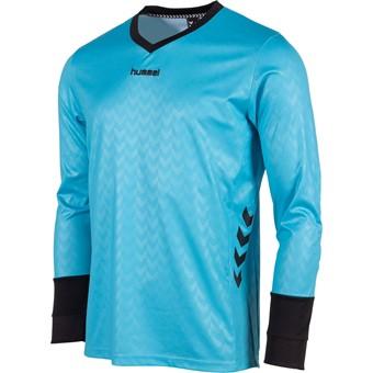 Picture of Hummel Hannover Keepershirt Lange Mouw - Aqua Blue / Zwart