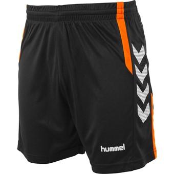 Picture of Hummel Aarhus Short - Zwart / Fluo Oranje
