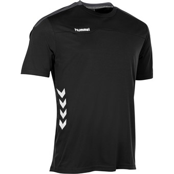 Picture of Hummel Valencia T-shirt Kinderen - Zwart / Antraciet