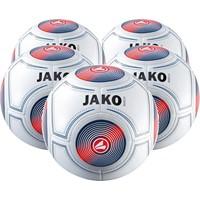 Jako Match (5x) Ballenpakket - Wit / Marine / Flame