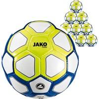 Jako Striker (maat 3) 10x Ballenpakket - Wit / Marine / Lemon