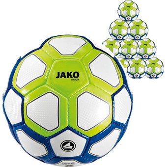 Picture of Jako Striker (maat 4) 10x Ballenpakket - Wit / Marine / Fluo Groen