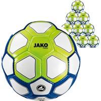 Jako Striker (maat 4) 10x Ballenpakket - Wit / Marine / Fluo Groen