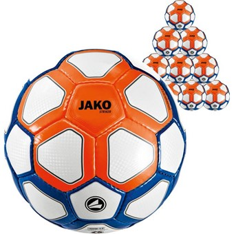 Picture of Jako Striker (maat 5) 10x Ballenpakket - Wit / Marine / Flame