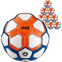 Jako Striker (maat 5) 10x Ballenpakket - Wit / Marine / Flame