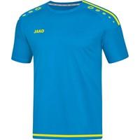 Jako Striker 2.0 Shirt Korte Mouw - Jako Blauw / Fluogeel