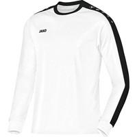 Jako Striker Voetbalshirt Lange Mouw - Wit / Zwart