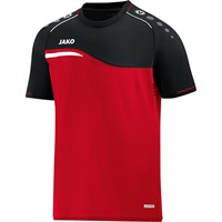 Jako Competition 2.0 T-shirt - Rood / Zwart