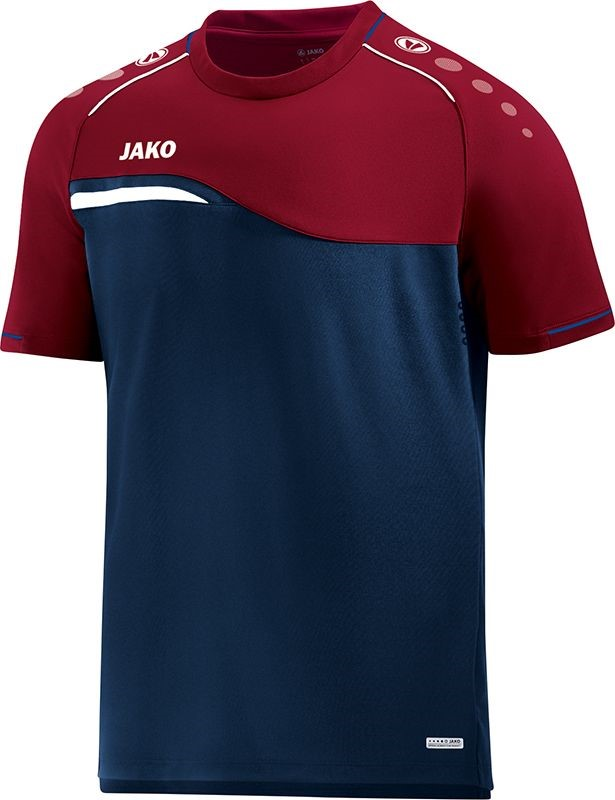 bcd13b32455 Jako Competition 2.0 T-Shirt Kinderen | Marine / Donkerrood | Teamswear