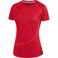 Jako Active Basics T-shirt Dames - Rood Gemeleerd