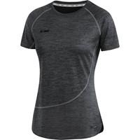 Jako Active Basics T-shirt Dames - Zwart Gemeleerd