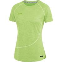 Jako Active Basics T-shirt Dames - Fluogroen Gemeleerd