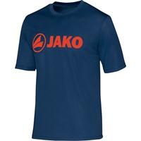 Jako Promo Functioneel T-Shirt - Nachtblauw / Flame
