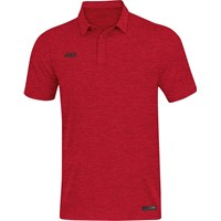 Jako Premium Basics Polo - Rood Gemeleerd