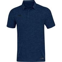 Jako Premium Basics Polo Dames - Marine Gemeleerd