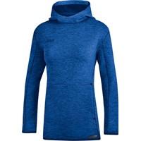 Jako Premium Basics Sweater Met Kap Dames - Royal Gemeleerd