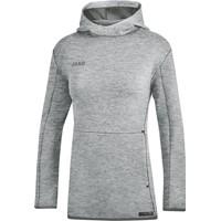 Jako Premium Basics Sweater Met Kap Dames - Grijs Gemeleerd