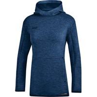 Jako Premium Basics Sweater Met Kap Dames - Marine Gemeleerd