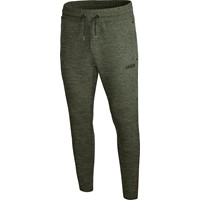 Jako Premium Basics Joggingbroek Dames - Kaki Gemeleerd