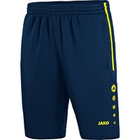 Jako Active Trainingsshort Kinderen - Marine / Fluogeel