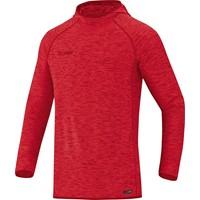 Jako Active Basics Sweater Met Kap - Rood Gemeleerd