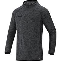 Jako Active Basics Sweater Met Kap - Zwart Gemeleerd