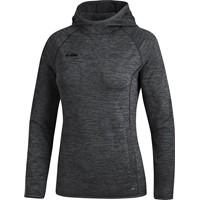 Jako Active Basics Sweater Met Kap Dames - Zwart Gemeleerd