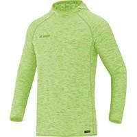 Jako Active Basics Sweater Met Kap - Fluogroen Gemeleerd
