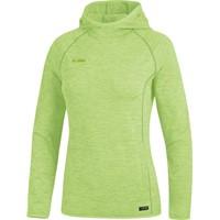 Jako Active Basics Sweater Met Kap Dames - Fluogroen Gemeleerd