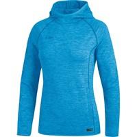 Jako Active Basics Sweater Met Kap Dames - Jako Blauw Gemeleerd