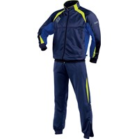 Jako J1 Trainingspak Polyester - Marine / Royal / Fluogeel