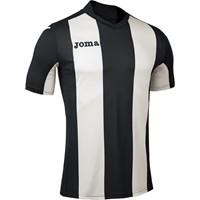 Joma Pisa Shirt Korte Mouw Kinderen - Zwart / Wit
