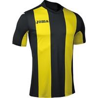 Joma Pisa Shirt Korte Mouw - Zwart / Geel