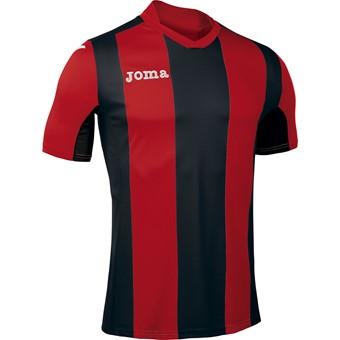 Picture of Joma Pisa Shirt Korte Mouw Kinderen - Rood / Zwart