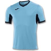 Joma Champion IV Shirt Korte Mouw - Turkoois / Zwart