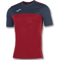 Joma Winner Shirt Korte Mouw Kinderen - Rood / Marine