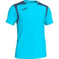 Joma Champion V Shirt Korte Mouw Kinderen - Fluor Turquoise / Donker Navy