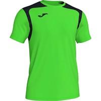 Joma Champion V Shirt Korte Mouw Kinderen - Fluo Groen / Zwart