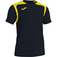 Joma Champion V Shirt Korte Mouw Kinderen - Zwart / Geel