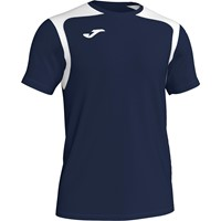Joma Champion V Shirt Korte Mouw Kinderen - Donker Navy / Wit