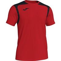 Joma Champion V Shirt Korte Mouw Kinderen - Rood / Zwart