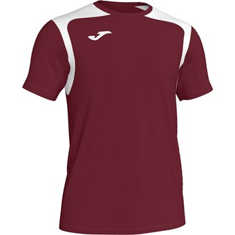 Picture of Joma Champion V Shirt Korte Mouw - Bordeaux / Wit